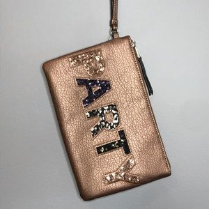 Juicy Couture embellished PARTY wristlet clutch
